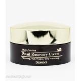 Deoproce Snail Recovery Cream восстанавливающий антивозрастной крем с муцином улитки 100гр