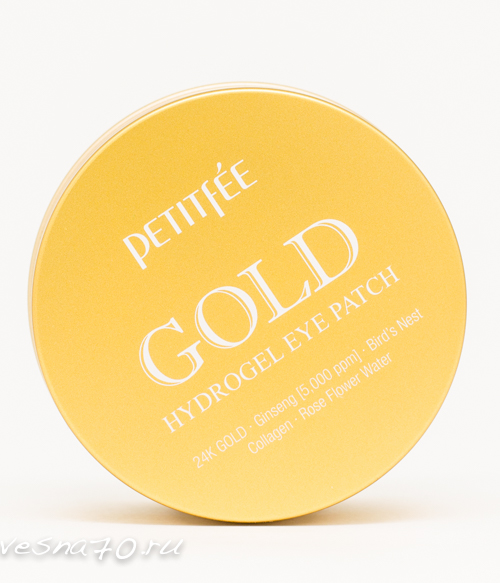 Патчи Petitfee гидрогелевые c 24-каратным коллоидным золотом 60шт