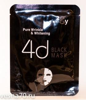 2GY 4D Black Mask Pure Wrinkle & Whitening антивозрастная осветляющая тканевая маска
