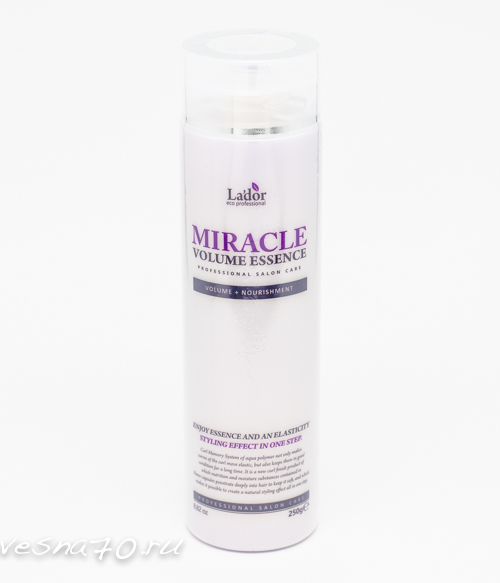 Lador Miracle Volume Essence увлажняющая ессенция для обьема и фиксации волос 250гр