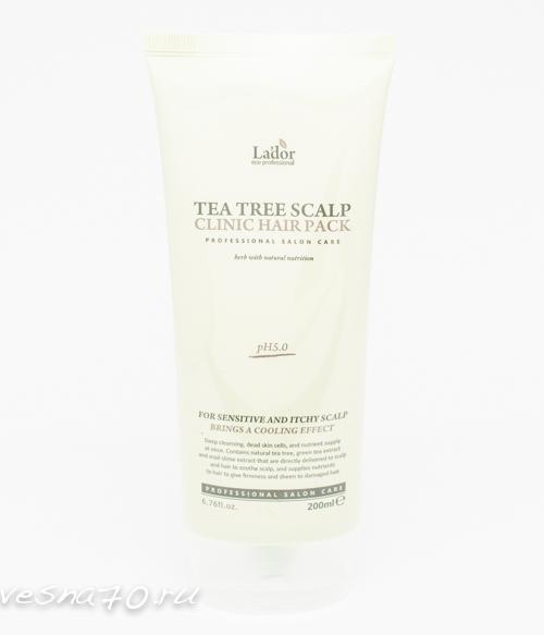 Lador Tea Tree Scalp Hair Pack маска для лечения кожи головы 200гр