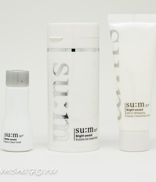 Su:m37 Bright Award Bubble DeMask 100мл [Special Set 3 средства]